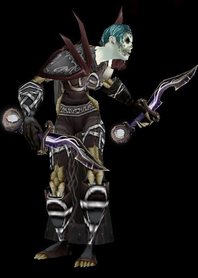 "Undead Assassination Rogue - ""Cadaverous Garb"" gear set"