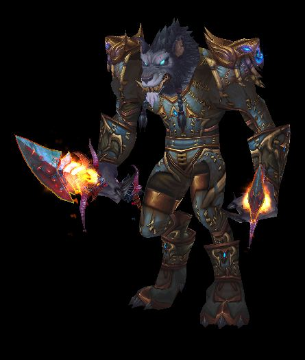 Worgen Rogue in Tier 13 with Legendary Daggers